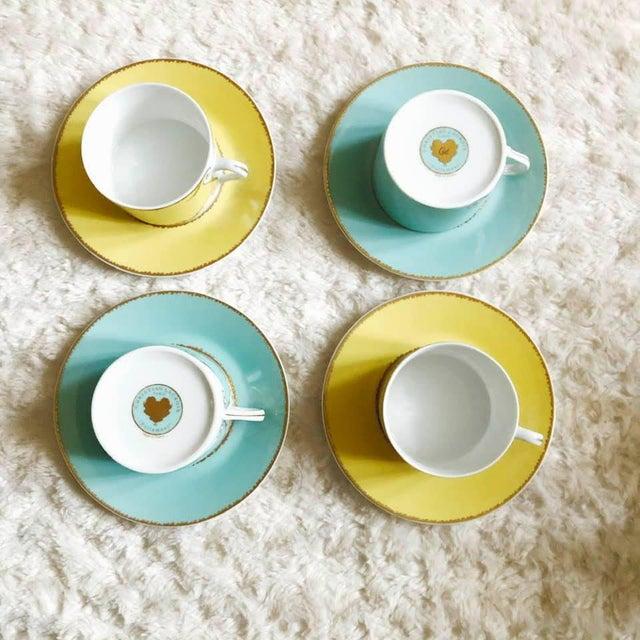 """Ceramic Christian LaCroix Paris """"Follement"""" Coffee Tea Set, France - Set of 4 For Sale - Image 7 of 13"""