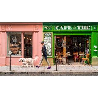 """Dog Walk - Paris"" Contemporary Figurative Photograph For Sale"
