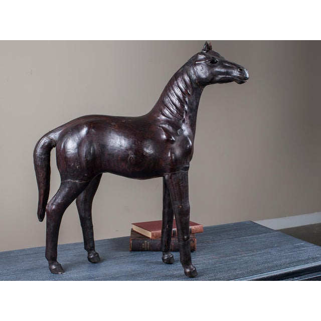Vintage English Liberty Leather Horse circa 1920 - Image 3 of 11