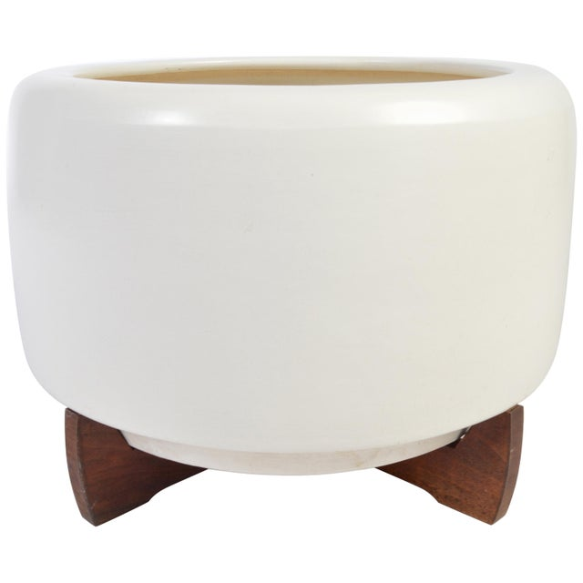 Wood John Follis & Rex Goode Architectural Planter Model Cp-13 With Redwood Base For Sale - Image 7 of 7