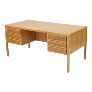 1960s Danish Modern Executive Desk in Oak by Gunni Omann for Omann Jun For Sale