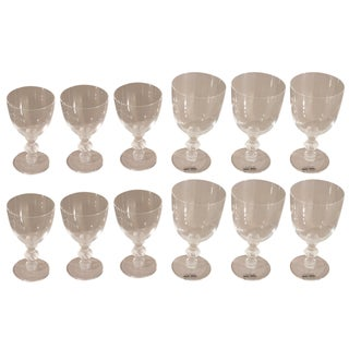 Lalique St. Hubert Pattern Stemware - Set of 12 For Sale