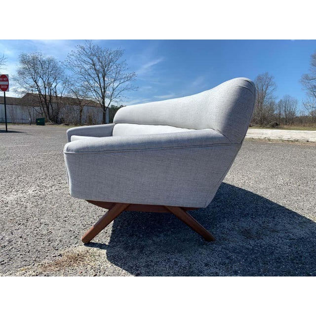 Illum Wikkelso-Mikael Laursen 4-Seat Sofa-Denmark, 1960s For Sale In Philadelphia - Image 6 of 11