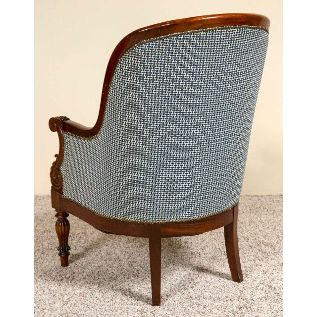 Pair Mahogany Empire Style Armchairs For Sale - Image 9 of 9