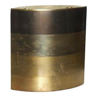 Modern Brass Candle Holder, Vase, Sculptural Bronze, by Michael Aram For Sale