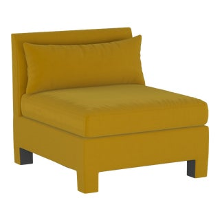 Armless Chair, Monaco Citronella For Sale