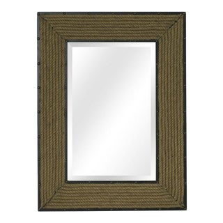 Newport Rope Framed Rectangle Coastal Wall Mirror For Sale