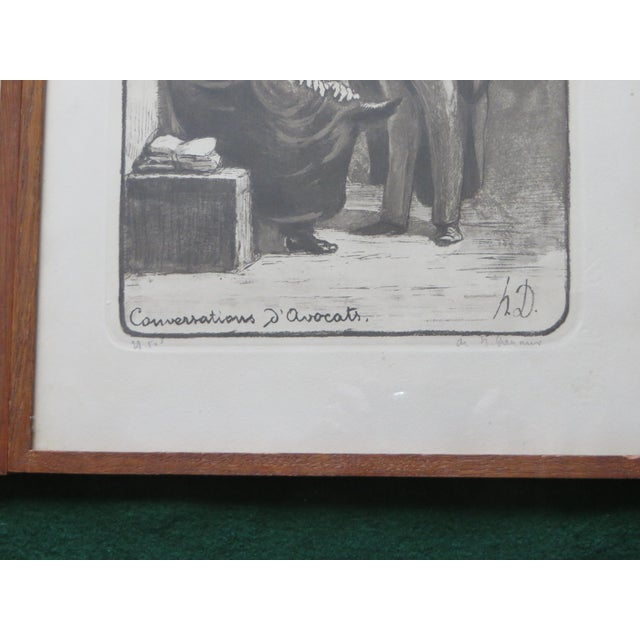 Paper Honore Daumier Caricatures Framed & Matted Prints - A Pair For Sale - Image 7 of 10