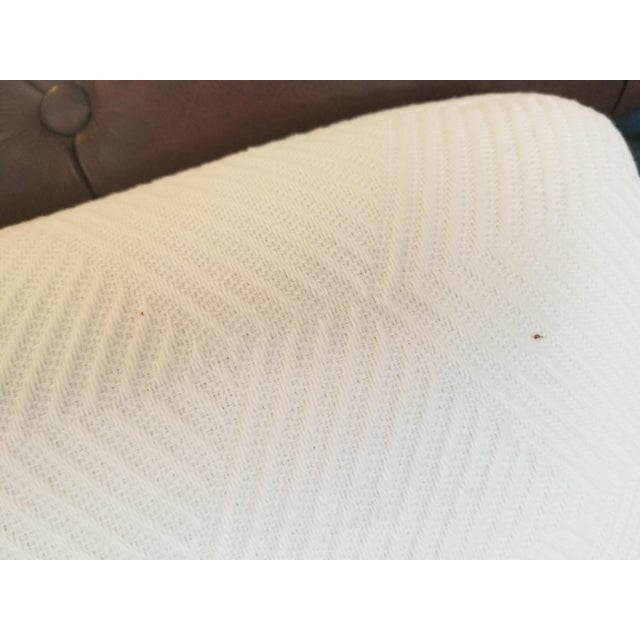 White Cream Lounge Slipper Chair For Sale - Image 8 of 10