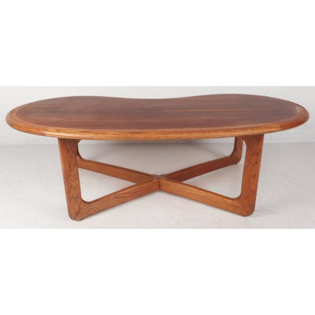 Mid-Century Modern Kidney Shaped Coffee Table by Lane Furniture - Image 6 of 9