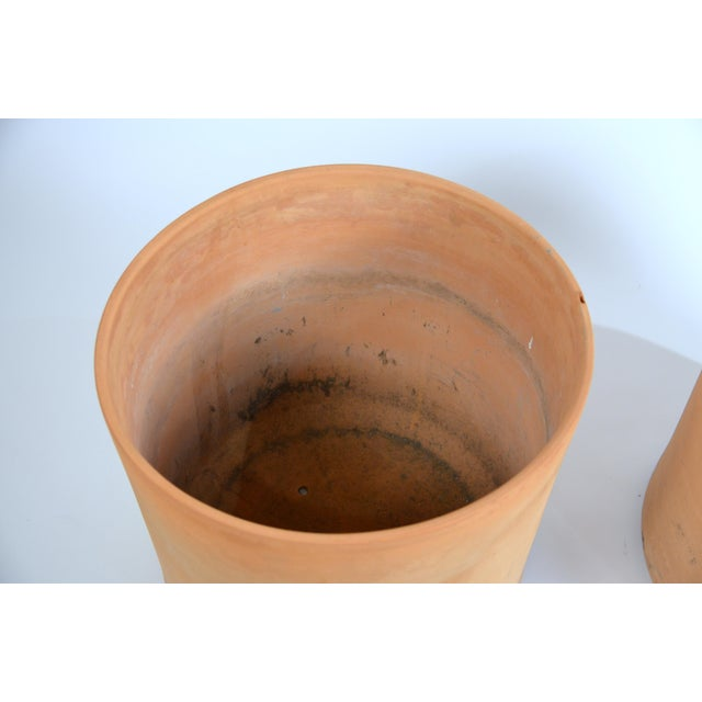 Ceramic Large Unglazed Architectural Terracotta Planters by Gainey Ceramics - a Pair For Sale - Image 7 of 10