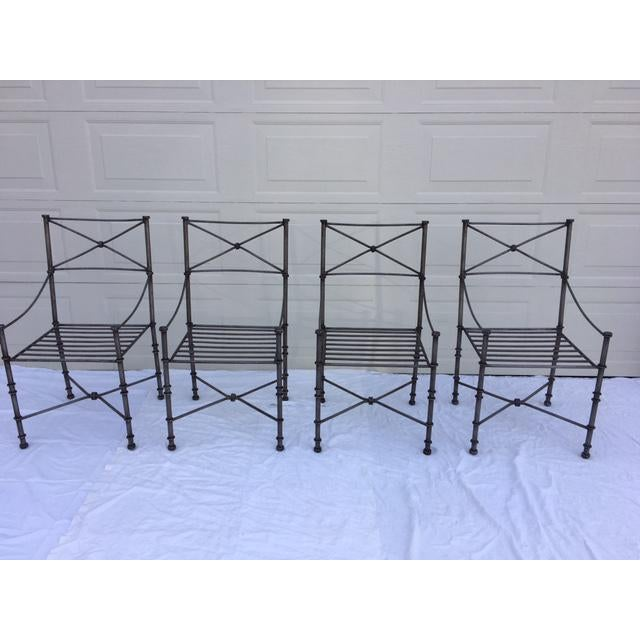 Neoclassical Iron Table & Chairs For Sale - Image 5 of 11