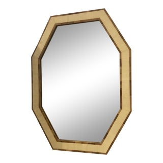Vintage Octagonal Two Tone Mirror For Sale