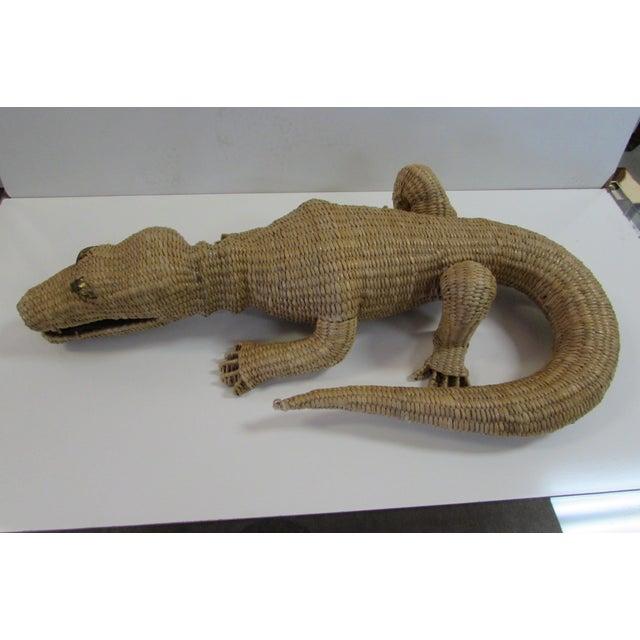 Wicker Crocodile Figure by Mario Torres - Image 5 of 5