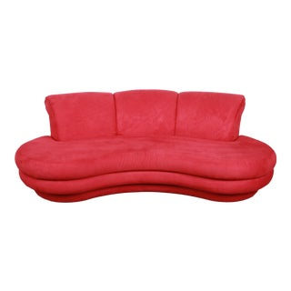 Adrian Pearsall Curved Kidney Shape Sofa for Comfort Designs For Sale