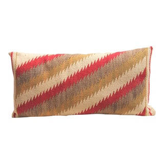 Amazing Navajo Indian Weaving, Streak of Lightning Pattern Bolster Pillow For Sale