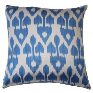 Contemporary Silk Ikat Pillow Cover Bohemian Pillow For Sale
