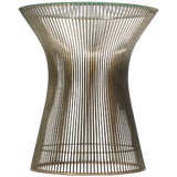 Image of Side Table by Warren Platner for Knoll With Glass Top For Sale