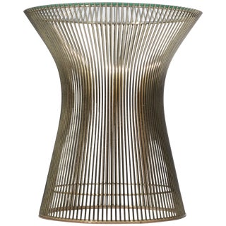 Side Table by Warren Platner for Knoll With Glass Top For Sale