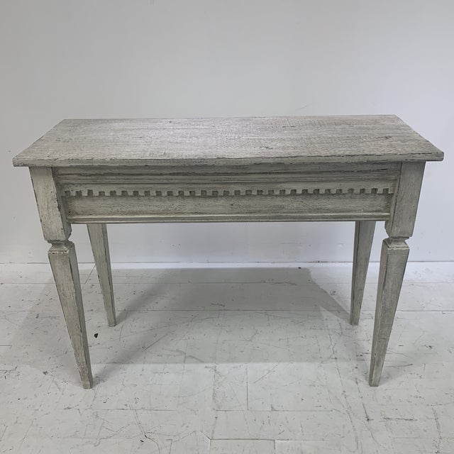 French 1990s Custom Console With Antique Pediment For Sale - Image 3 of 13