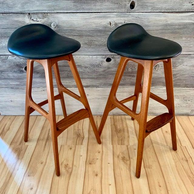 Erik Buch Danish Modern Teak Bar Stools - a Pair For Sale - Image 13 of 13