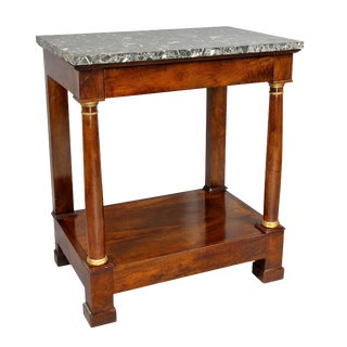 French Empire Mahogany Console Table For Sale