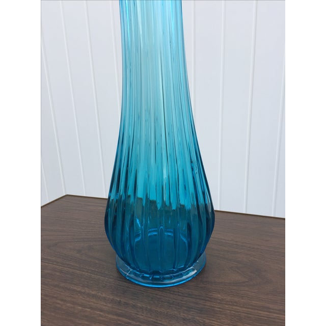 Vintage Viking 28 Quot Tall Blue Swung Glass Vase Chairish