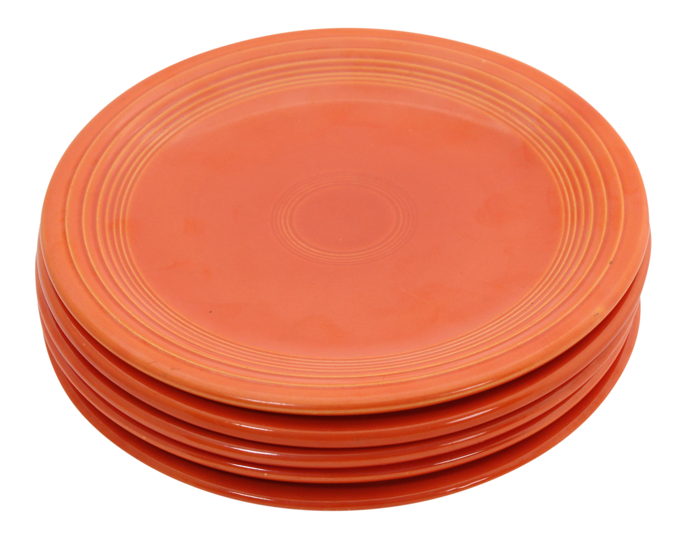 Vintage \ Radioactive\  Orange Fiesta Ware Plates - Set of 5  sc 1 st  Chairish & Vintage \