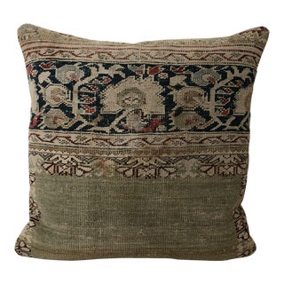 Early 20th Century Boho Chic Beige Linen Pillow