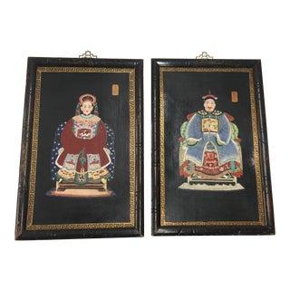 Chinese Ancestor Portraits on Porcelain