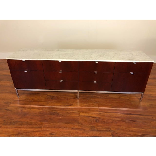 Florence Knoll Four Position Credenza With Marble Top For Sale - Image 13 of 13