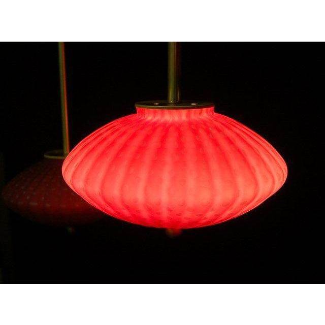 Gold Vintage Murano Glass Hanging Lamps Pink For Sale - Image 8 of 11