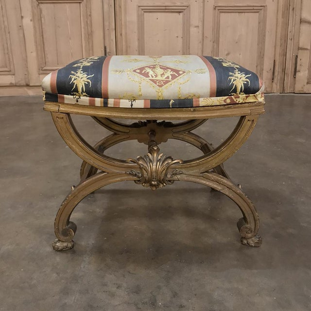 French 19th Century Giltwood Vanity Stool For Sale - Image 3 of 11