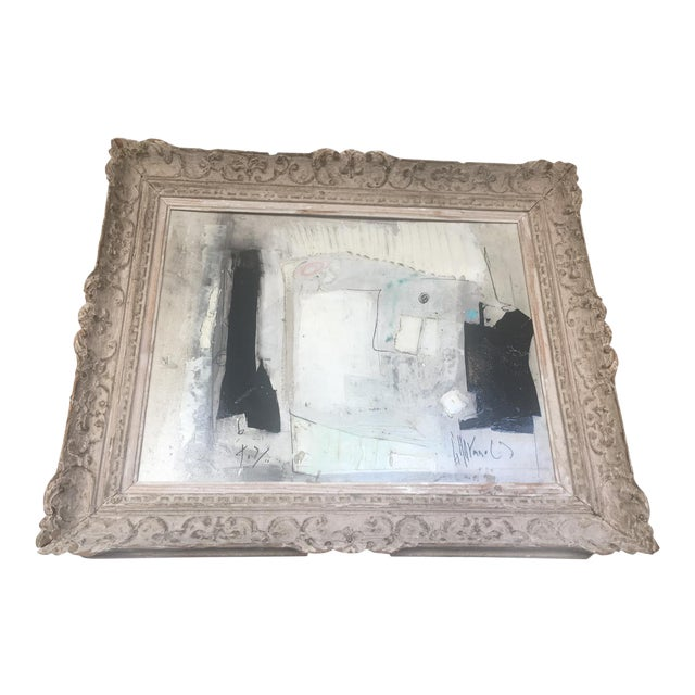 1960s Black & White Abstract Painting For Sale