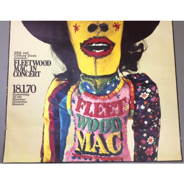 Boho Chic 1970 Fleetwood Mac Concert Poster by Gunther Kieser Rare For Sale - Image 3 of 5