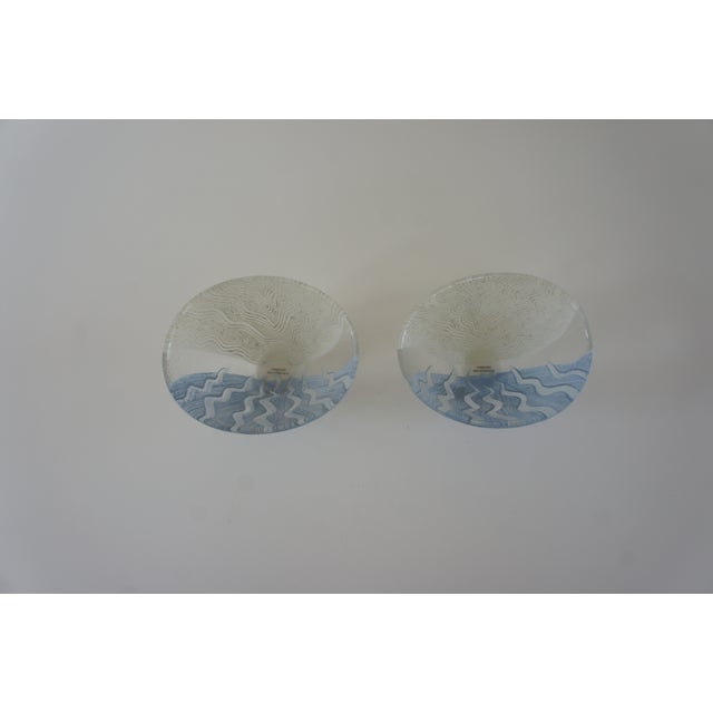 Kosta Boda Monica Backstrom Hand-Painted Bowls - a Pair For Sale In Washington DC - Image 6 of 11
