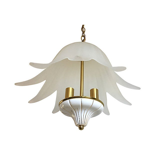 Fabbian Italian Lotus Chandelier by Fabbian For Sale - Image 4 of 9