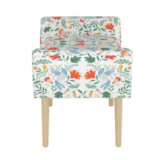 Modern Welted Bench in Nordic Bird White Oga Preview