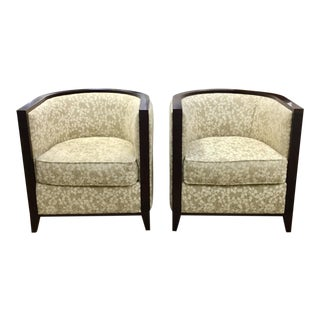 Robb & Stucky Interiors Modern U-Shape Armchairs - a Pair For Sale