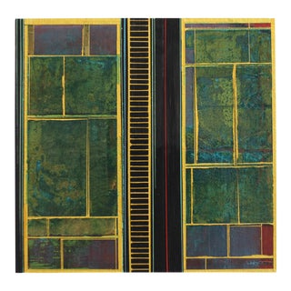 """Alexander Eulert """"Fields No. 8"""" Mixed Media Painting For Sale"""