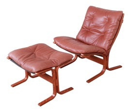 Image of Danish Modern Chair and Ottoman Sets