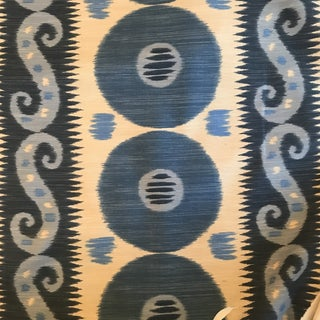 "Lee Jofa ""Emir"" Cadet/ Indigo Fabric 7 1/2 Continuous Yards For Sale"