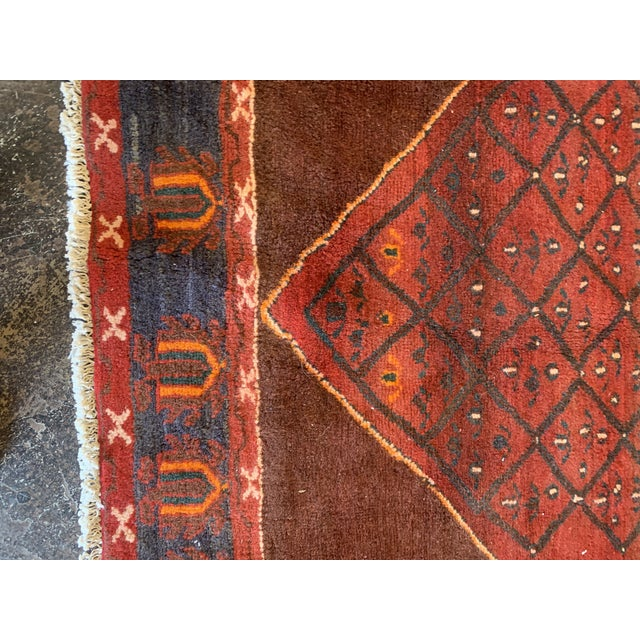 "Red Hand-Tied Red Persian Kolia Rug 4'11 X 8'10"" For Sale - Image 8 of 13"