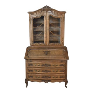 Antique Country French Secretary ~ Bookcase For Sale
