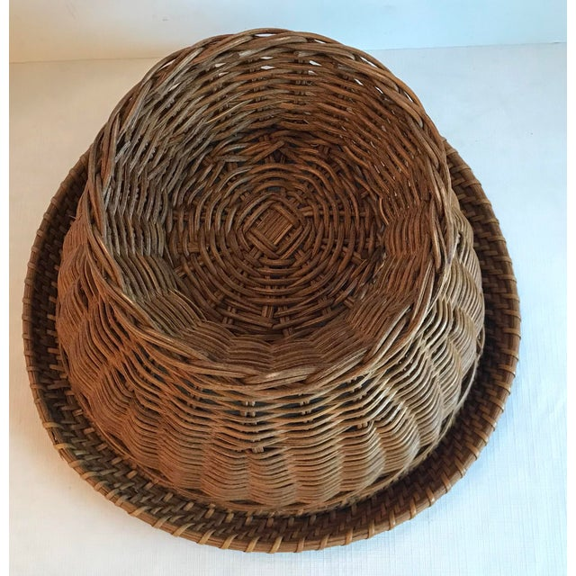 Vintage Mid Century Natural Wicker Planter For Sale In Dallas - Image 6 of 8