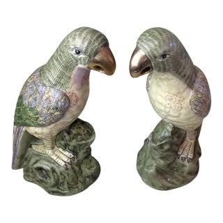 Famille Rose Parrots - A Pair