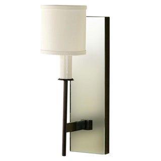 Paul Marra One-Arm Mirror Back Sconce For Sale