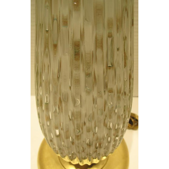 Glass 1960s Mid-Century Modern Murano Glass Lamps - Barovier & Toso Pair For Sale - Image 7 of 9