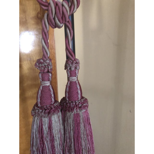 Traditional Houles Paris Double Tassel Tieback For Sale - Image 3 of 4
