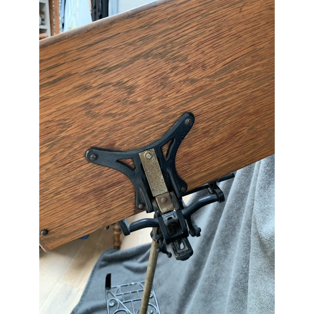 Traditional Antique Adjustable Book Stand For Sale - Image 3 of 10